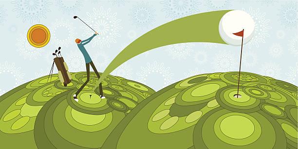 Golf stroke vector art illustration
