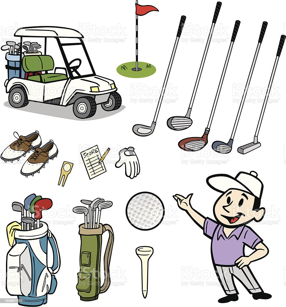 Golf Stuff vector art illustration