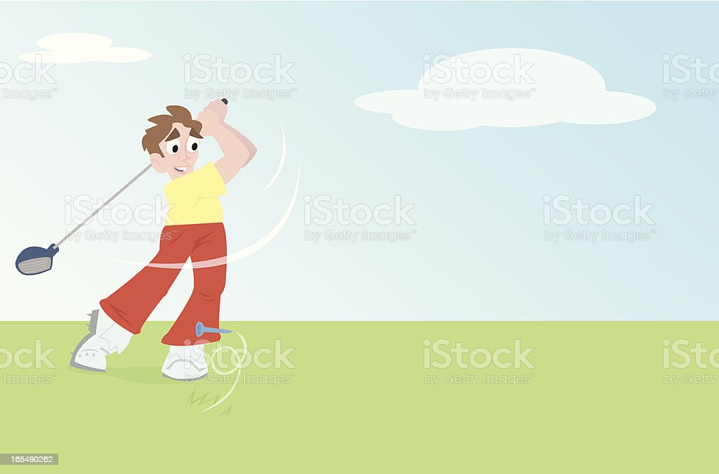 Golf Swing royalty-free golf swing stock vector art & more images of cartoon