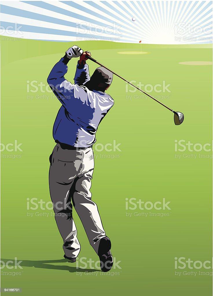 Golf Swing royalty-free stock vector art