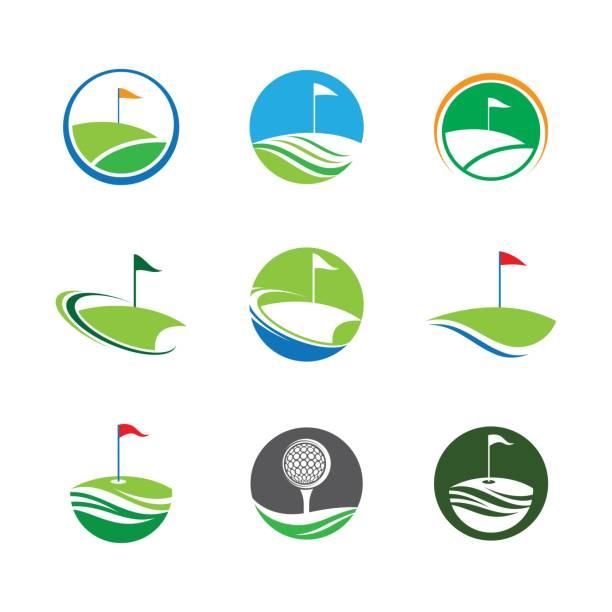 Golf symbol vector icon Golf symbol vector icon illustration golf logo stock illustrations