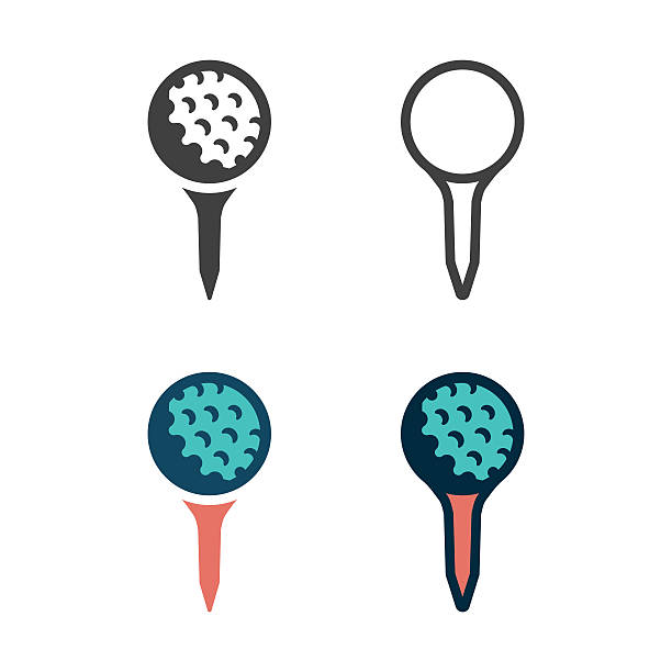 Golf Tee Icon Golf Tee Icon Vector EPS File. golf ball stock illustrations