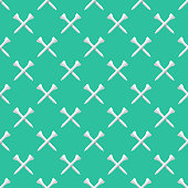 A seamless golf pattern created from a single flat design icon, which can be tiled on all sides. File is built in the CMYK color space for optimal printing and can easily be converted to RGB. No gradients or transparencies used, the shapes have been placed into a clipping mask.