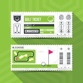Golf Ticket Card modern element design