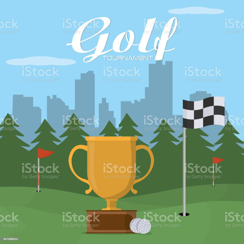 Golf Tournament Cartoon Stock Illustration Download Image Now Istock