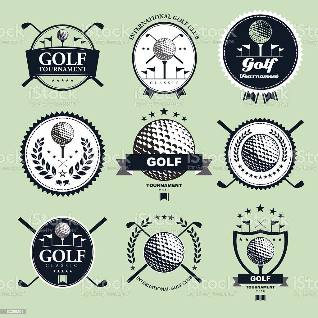 Golf Tournament Emblem vector art illustration