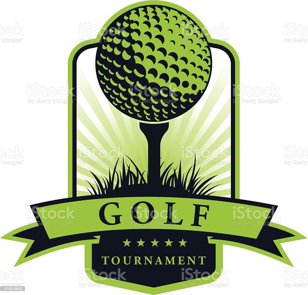 Emblema torneio de golfe - ilustração de arte em vetor