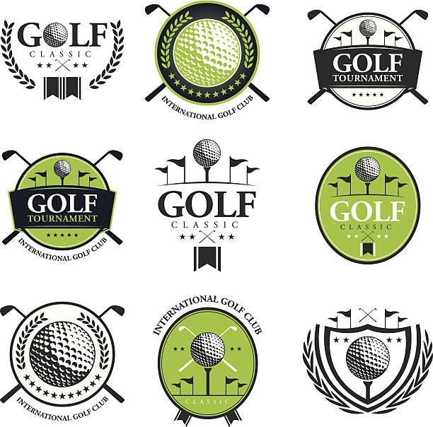 ゴルフトーナメントエンブレム - ゴルフ点のイラスト素材/クリップアート素材/マンガ素材/アイコン素材