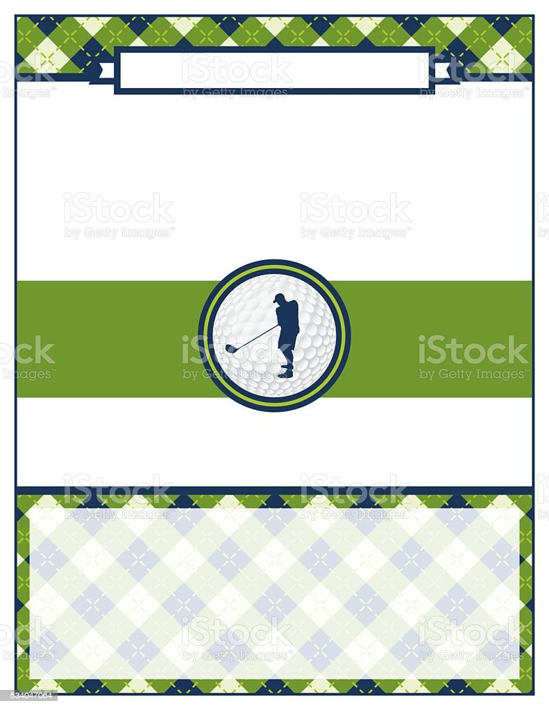 Golf Tournament Flyer Blank Template Stock Vector Art More Images