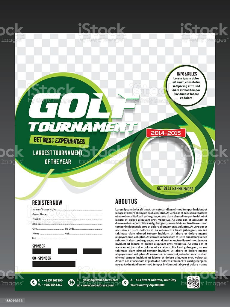 golf tournament flyer template stock vector art more images of
