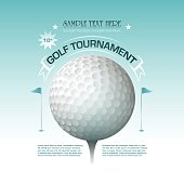 Golf tournament invitation banner background