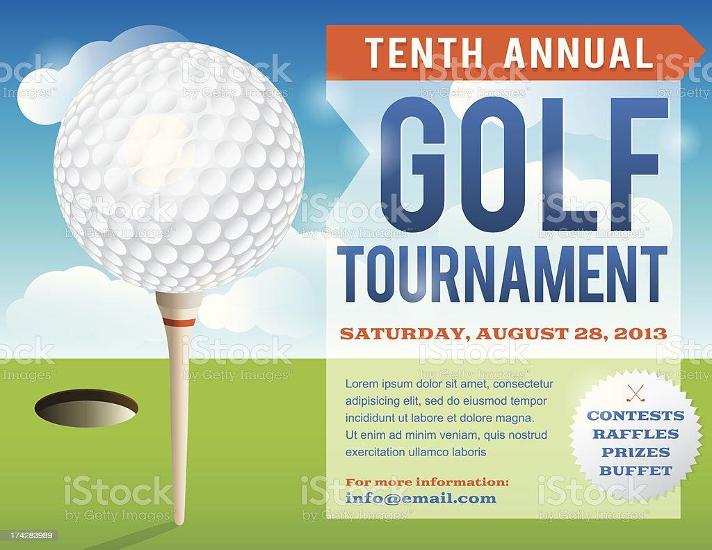 Golf Tournament Invitation Design vector art illustration