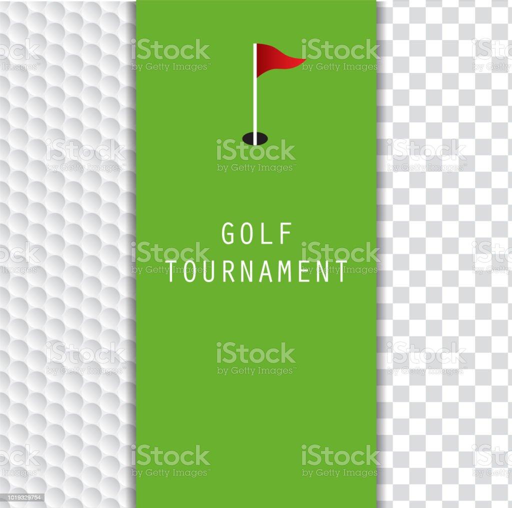 Golf Tournament Invitation Flyer Template Graphic Design Stock