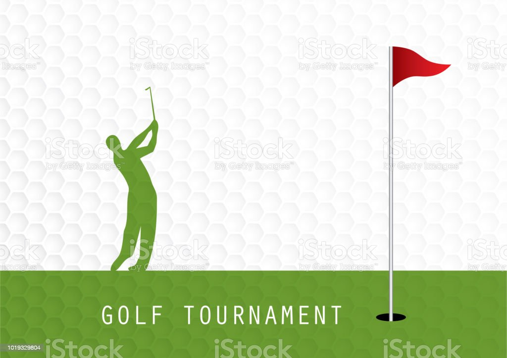 golf tournament invitation flyer template graphic design stock