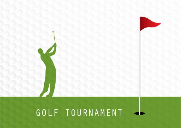 ゴルフ大会招待状チラシ テンプレート グラフィック デザイン - ゴルフ点のイラスト素材/クリップアート素材/マンガ素材/アイコン素材
