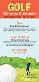 Golf Tournament Invitation Flyer With female Golfer
