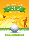 Poster design for a summer golf tournament. Global colours used.