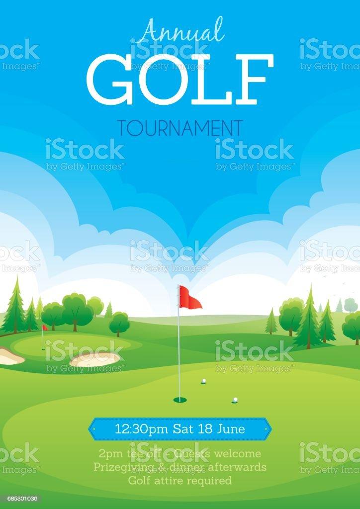 Tournoi de Golf affiche - Illustration vectorielle