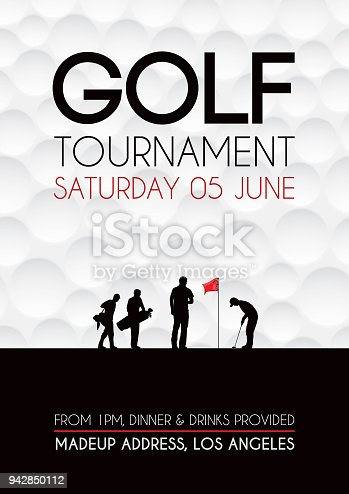 Poster for a golf competition