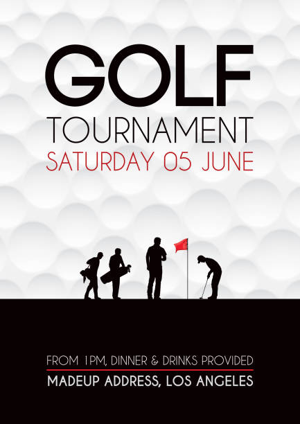 ゴルフトーナメントのポスター - ゴルフ点のイラスト素材/クリップアート素材/マンガ素材/アイコン素材