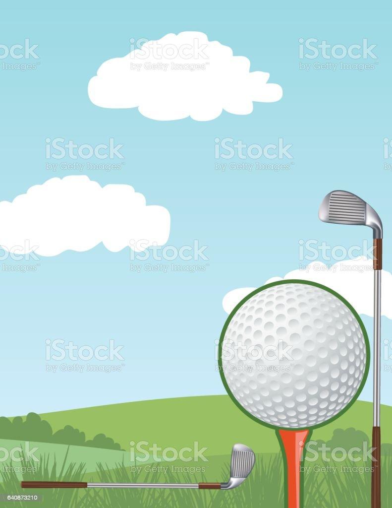 Torneo De Golf Plantilla Con Putting Green Y De Bandera - Arte ...