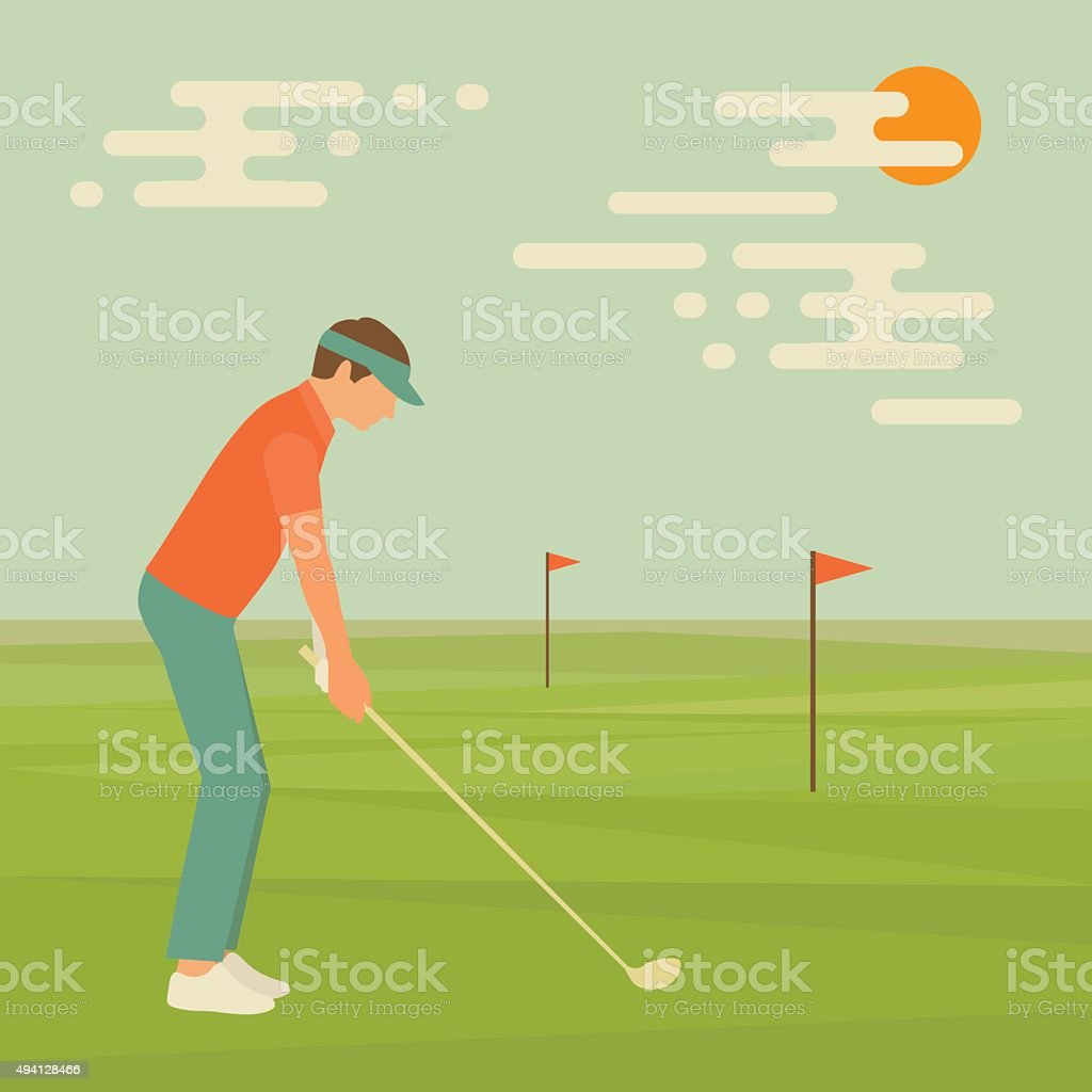 golf vector art illustration