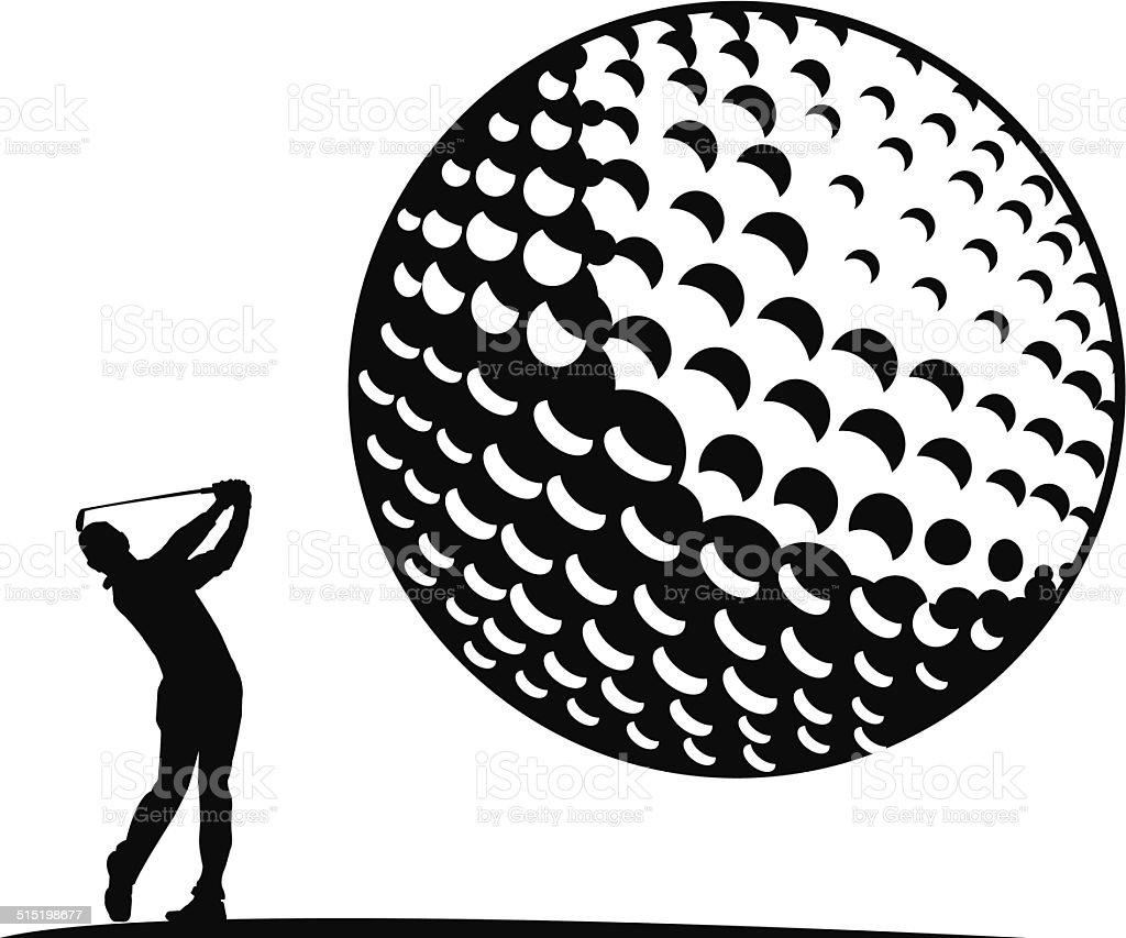 Golf vector art illustration