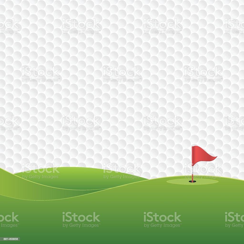 Parcours de Golf. - Illustration vectorielle