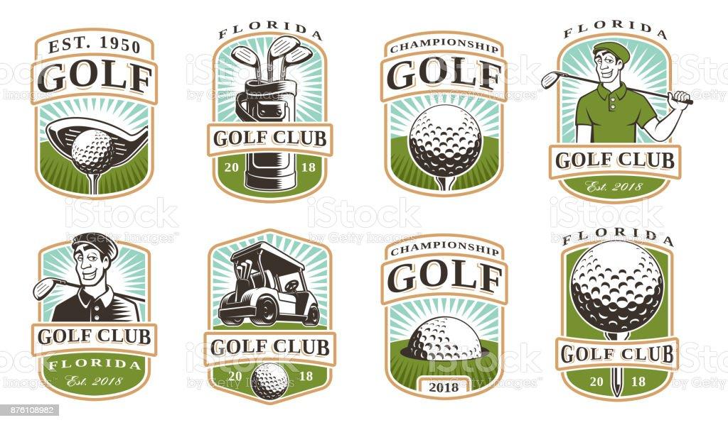 Vetor de Golf set (12 ícones) - ilustração de arte em vetor