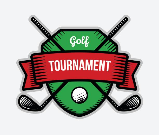 stockillustraties, clipart, cartoons en iconen met golf-vector. zomer individuele sport toernooi. - sportkampioenschap