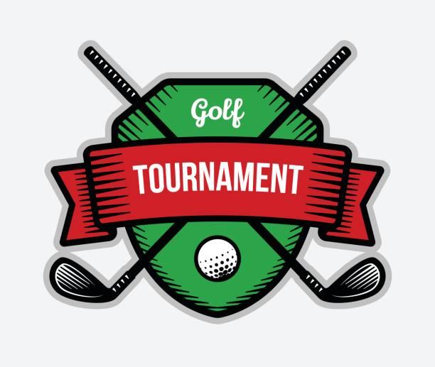 Golf vector . Summer individual sport tournament. Color badge, shirt mascot design. golf logo stock illustrations