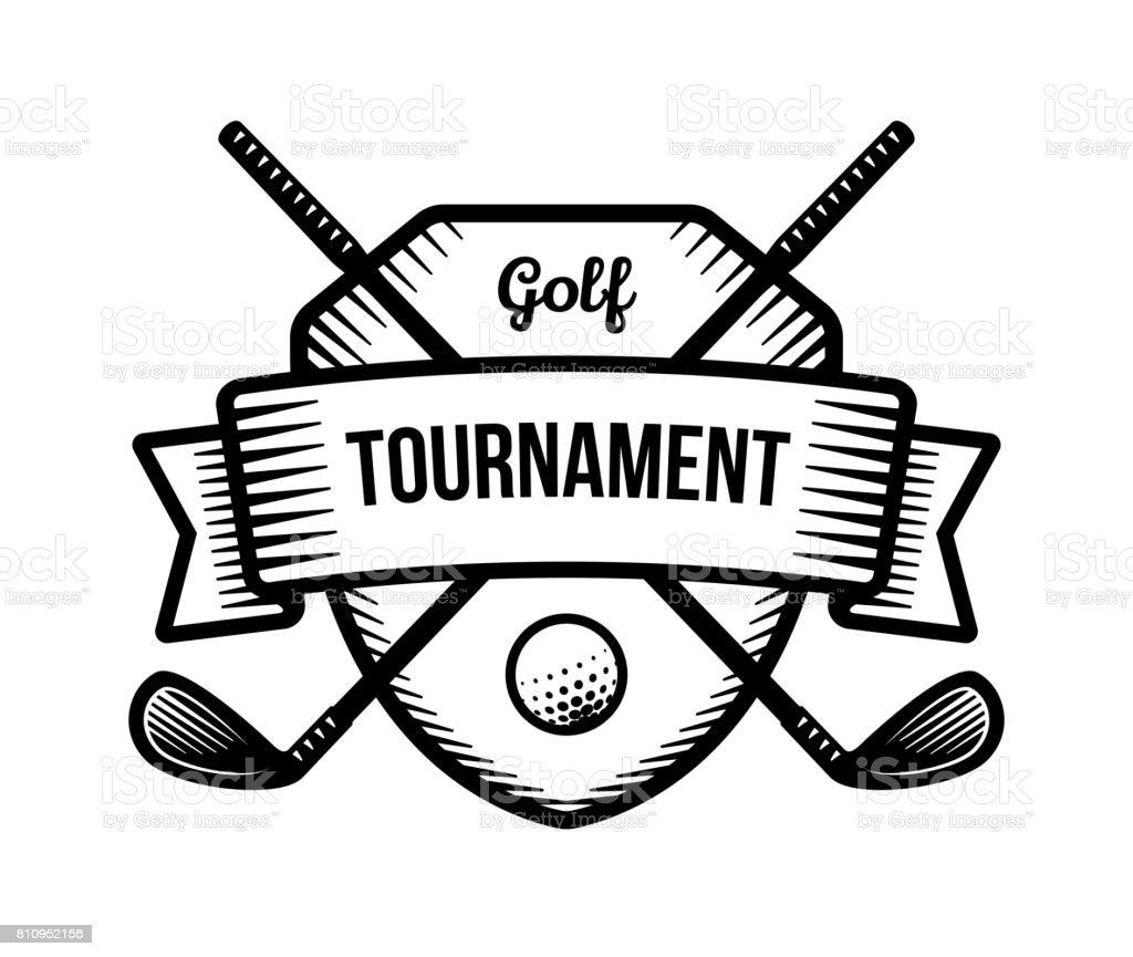 Golf Vector Summer Individual Sport Tournament Stock ...