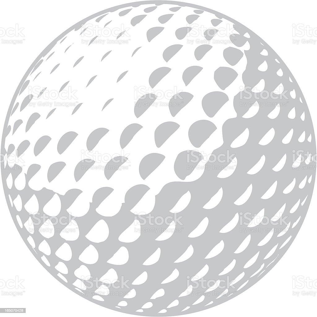 Golfball vector art illustration