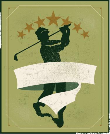 Golfer Banner Background - Retro