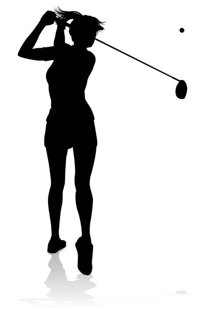 313 woman golf swing illustrations & clip art - istock  istock