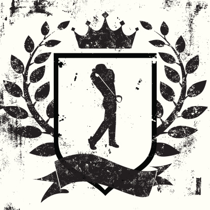 golfer shield insignia