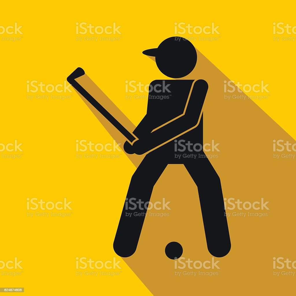 Golfer Silhouette Flat Icon Stock Vector Art More Images Of Ball
