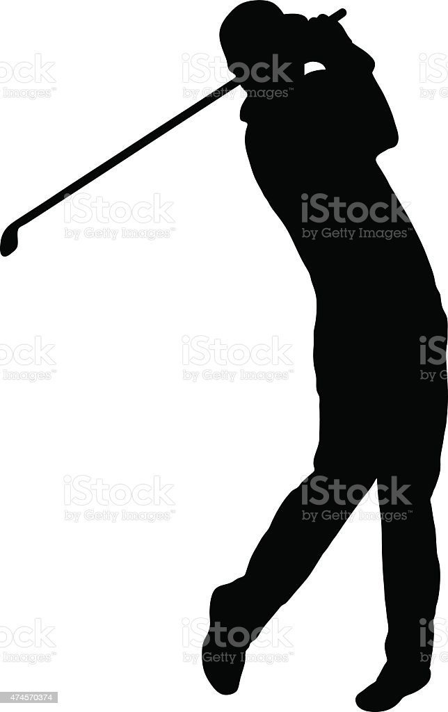royalty free golf swing clip art vector images illustrations istock rh istockphoto com vector golf ball vector golf course