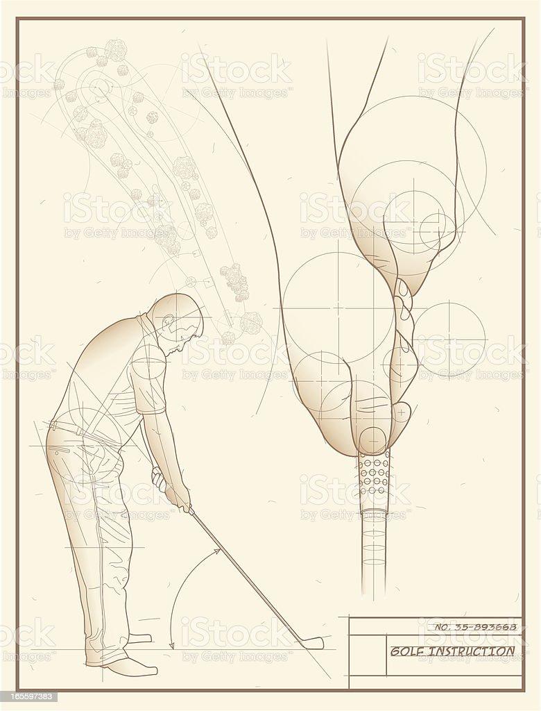 Golfista desenho de ilustração de golfista desenho de e mais banco de imagens de agarrar royalty-free