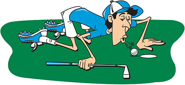 783 Golf Funny Illustrations Royalty Free Vector Graphics Clip Art Istock