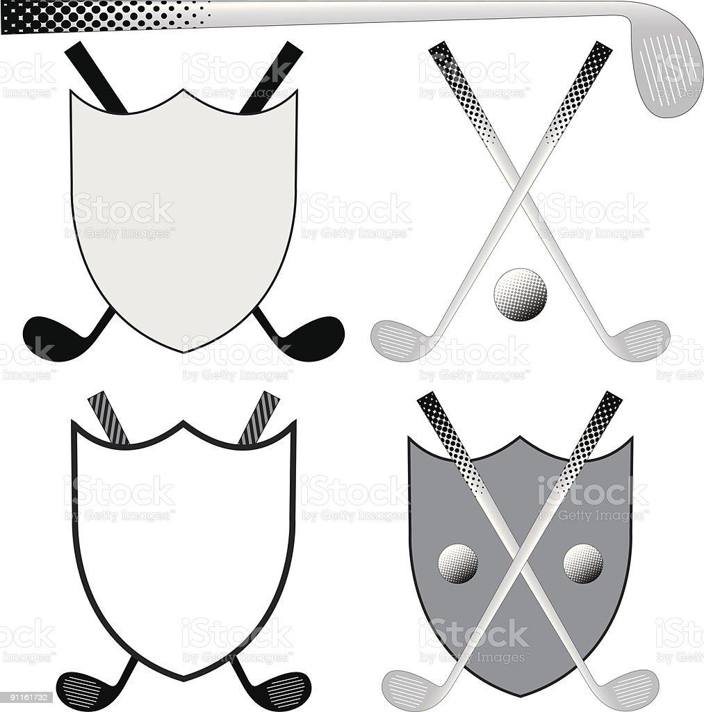 Golfing Elements royalty-free stock vector art
