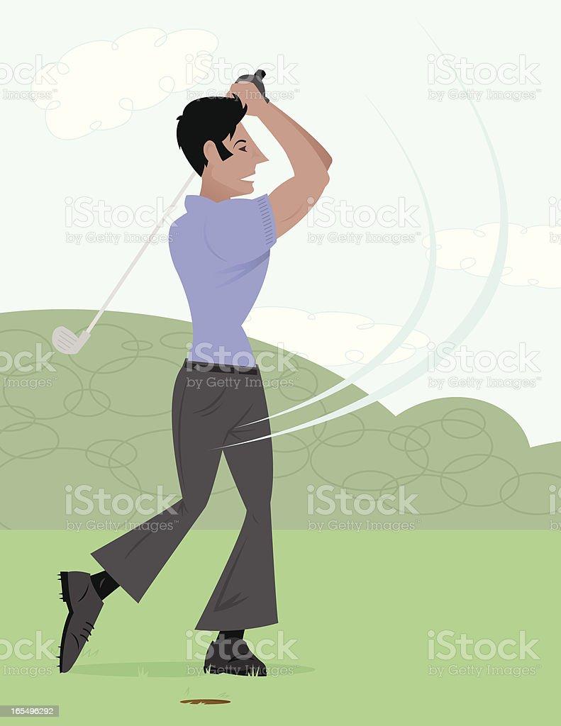Golfing Guy royalty-free stock vector art
