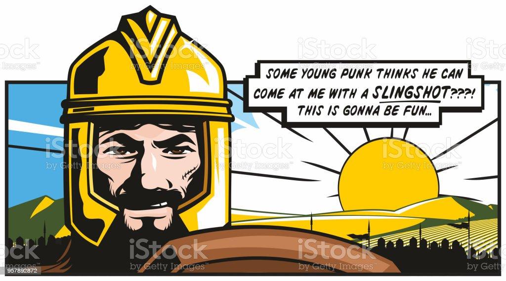 Goliath's Pride vector art illustration