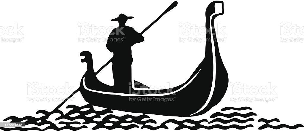 Gondol vector art illustration