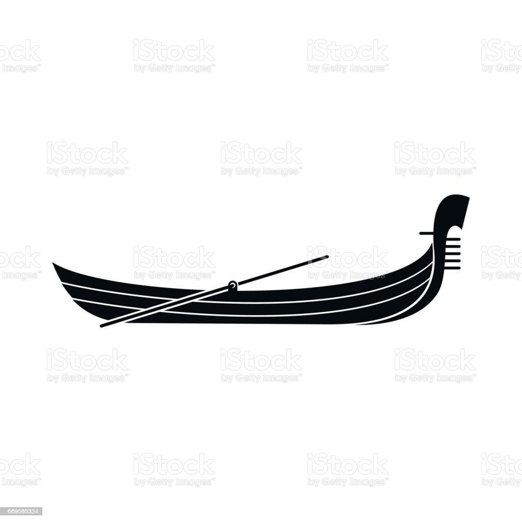 Gondola icon in simple style vector art illustration