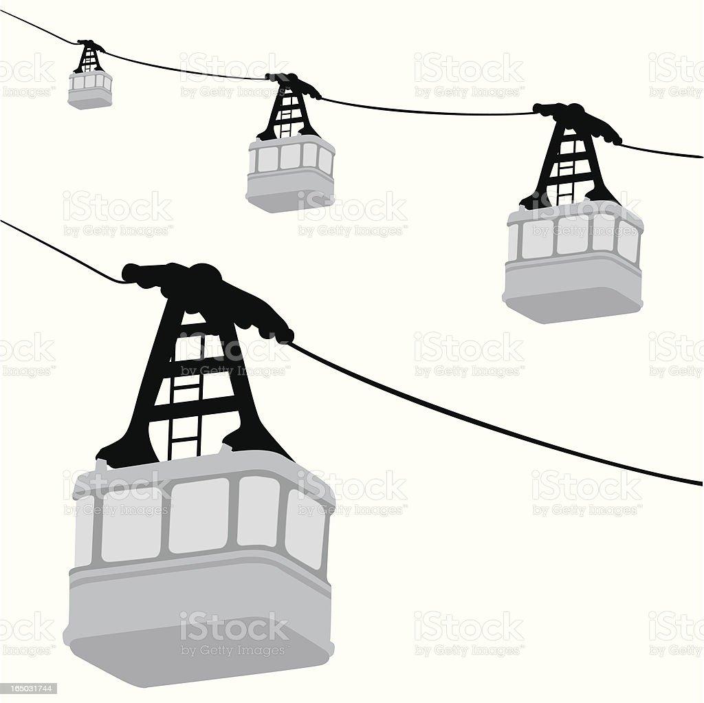 Gondolas Vector Silhouette vector art illustration