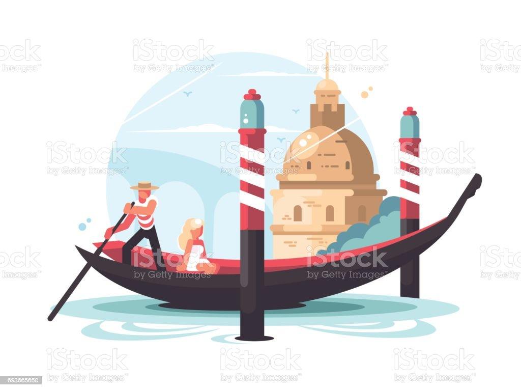 royalty free venice italy gondola clip art vector images rh istockphoto com italian gondola clipart italian gondola clipart