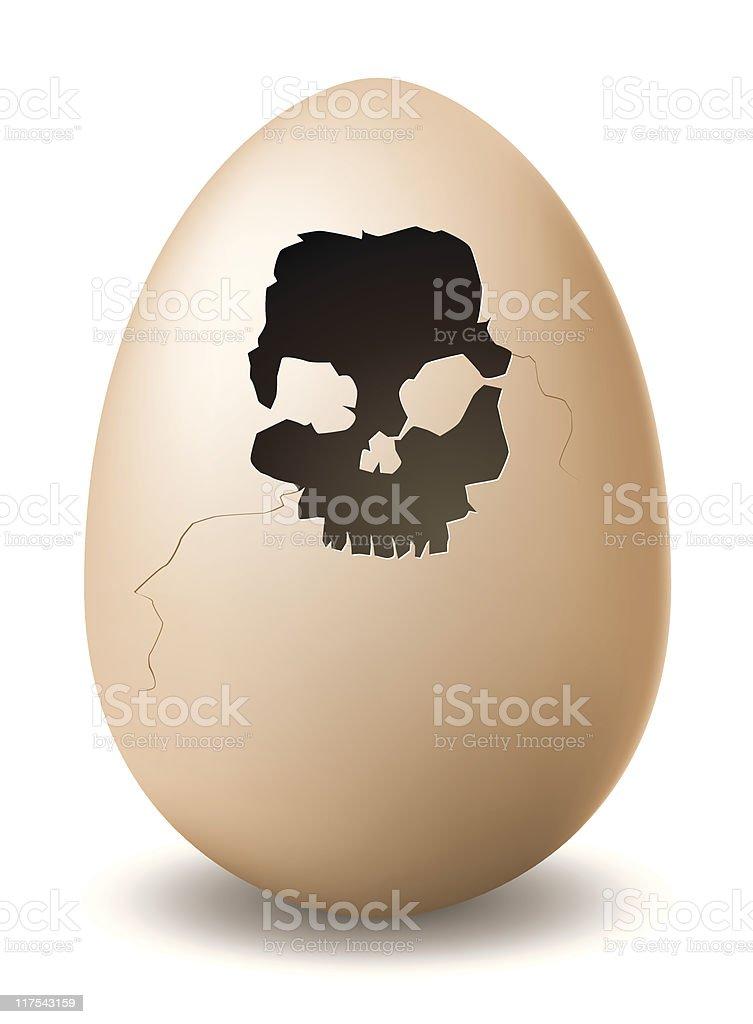 gone bad egg vector art illustration