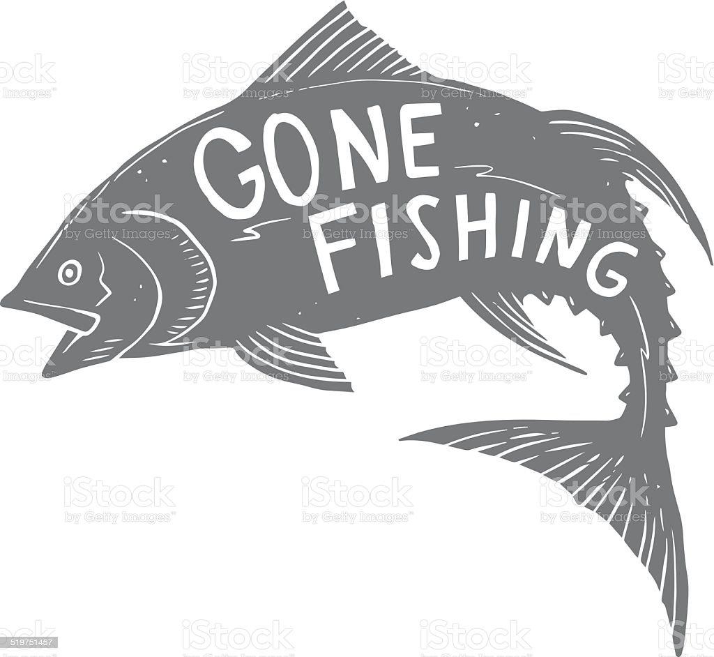 De pesca de atún - ilustración de arte vectorial