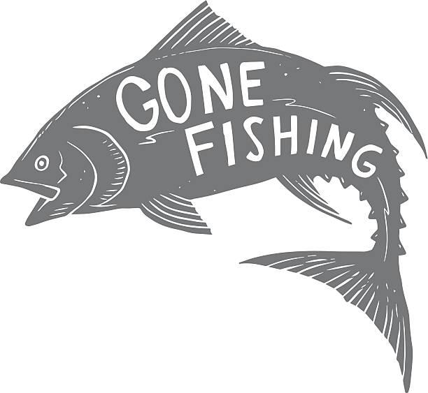 釣りに出かけたらマグロ ベクターアートイラスト